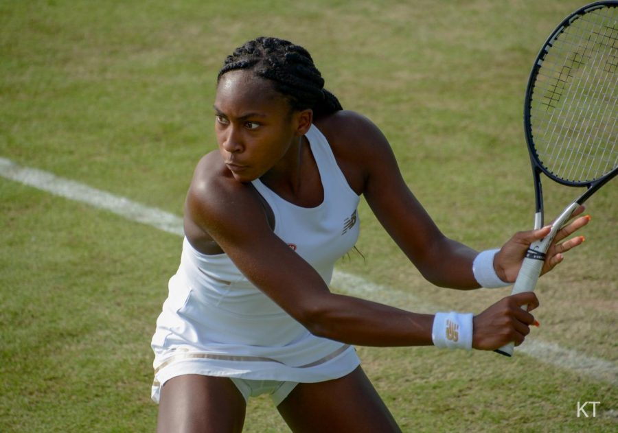Coco Gauff at 2019 Wimbledon